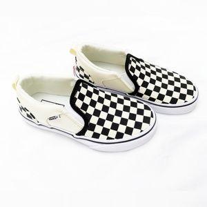 NWOT Vans | Checkered Kids Slip-On Sneakers
